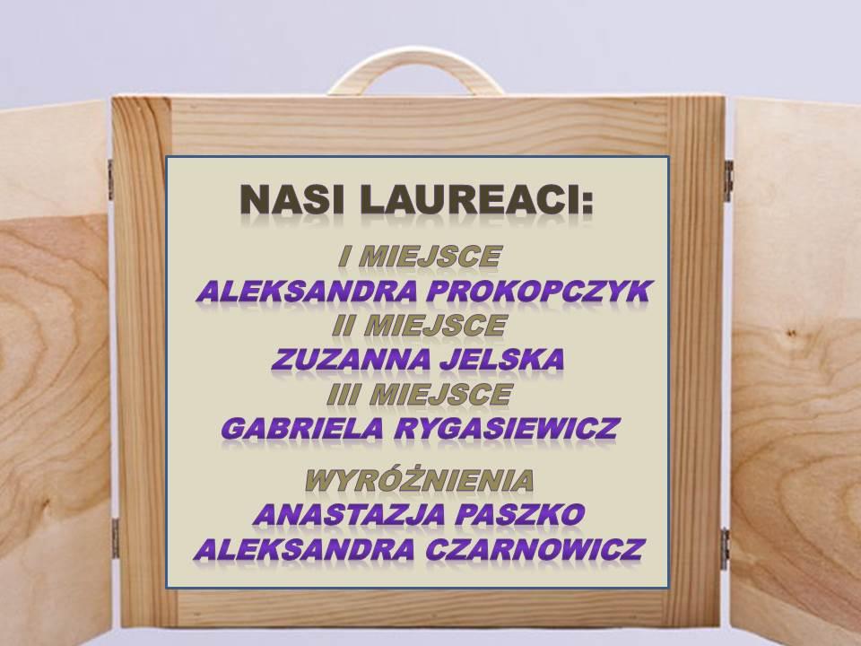 Lista laureatów konkursu.